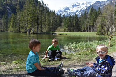 Familienausflug in die Berge