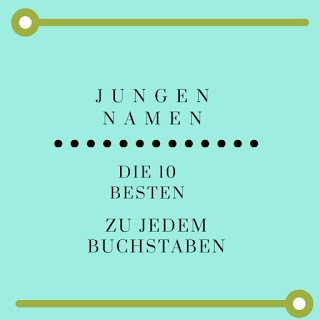 Top Namen für Jungs