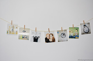 DIY Fotogirlande mit Tonperpartner