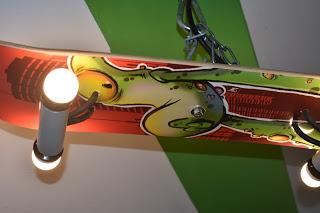 DIY Kinderzimmerdeko - Skateboardlampe